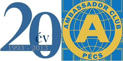Ambassador Club Pécs 20 év - meghívó