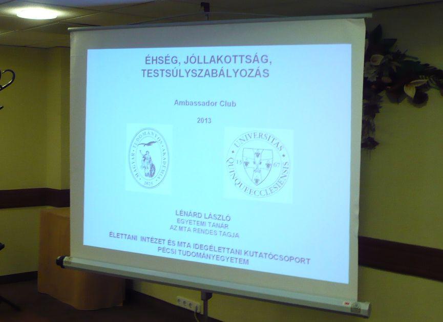 Ambassador Club Pécs - Klubnap vendégelőadó prof. dr. Lénárd LászlóAmbassadorClubPecs_Klubnap-2013-11-06_eloado_prof_dr_Lenard_Laszlo