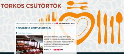 Ambassador Club Budapest - Torkos Csütörtökön a törzshelyen, Budapesten, a Rozmaring Étteremben