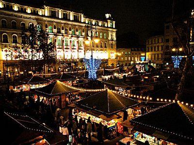 Budapest, Vörösmarty tér téli vásár