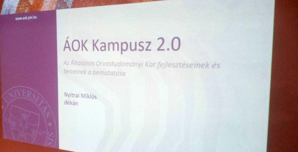 Ambassador Club Pécs klubnap témája: PTE-ÁOK Kampusz 2.0