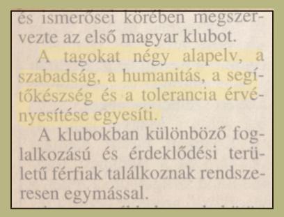 Ambassador Club Pécs - eszmék alapításkor, 1993-ban