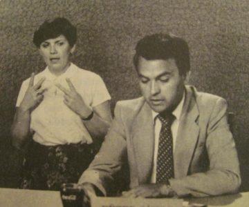Füzes János archív felvételen (Sorstársak műsorvezető 1981.- Pécsi Körzeti Stúdió))