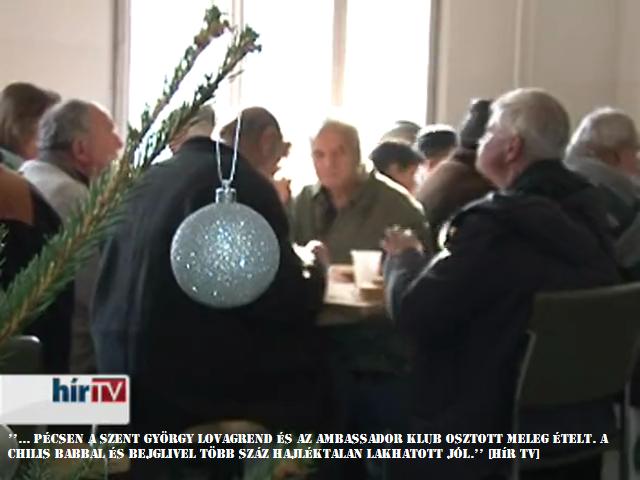 Szent György Lovagrend és az Ambassador Club ételosztása Karácsonykor